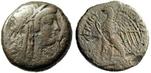 """Ancient Coins - Ptolemy V Epiphanes AE31 """"Cleopatra as Isis & Eagle"""" Alexandria Good Fine"""