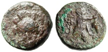 """Ancient Coins - Troas, Ophrynion AE19 """"Hectory Facing, Slighty LEFT & Infant Dionysos"""" Very Rare"""