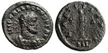 "Allectus AE Antoninianus ""Laetitia Standing, Wreath & Anchor"" London 293-296 AD"