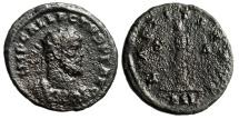 "Ancient Coins - Allectus AE Antoninianus ""Laetitia Standing, Wreath & Anchor"" London 293-296 AD"