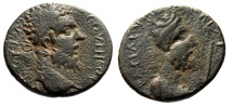 "Ancient Coins - Septimius Severus AE20 ""Bust of King Abgar VIII, Scepter"" Mesopotamia Edessa"