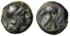 "Ancient Coins - Attica, Athens AE11 ""Helmeted Athena, Earring / Owl"" Rare Good Fine"