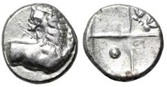 "Ancient Coins - Thrace, Thracian Chersonesos AR Hemidrachm ""Forepart Lion, Head Turned & Incuse"""