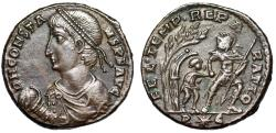 "Ancient Coins - Constans AE Centenionalis ""FEL TEMP REPARATIO Captive From Hut"" Rome RIC 140 gVF"