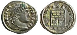 "Ancient Coins - Constantine I The Great AE20 ""PROVIDENTIAE AVGG Campgate"" Cyzicus RIC 34"