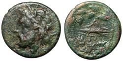 "Ancient Coins - Epirus, Epeirote Republic AE20 ""Zeus Head Left & AP Thunderbolt"" gF Rare"