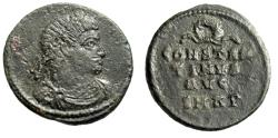 "Ancient Coins - Constantine I The Great Anepigraphic AE3 ""Name Lines, Wreath"" RIC 281 Very Rare"