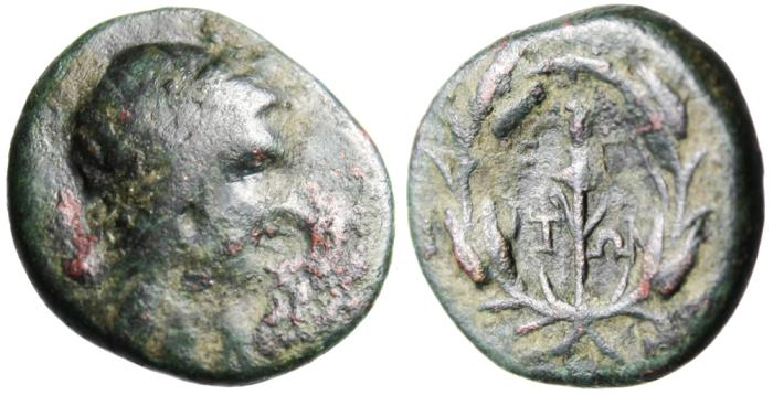 "Ancient Coins - Aeolia, Elaia (Elaea) Autonomous Issue ""Persephone & Torch"" Scarce"