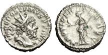 "Ancient Coins - Postumus Silver Antoninianus ""Providentia, Globe"" Cologne RIC 323 Good VF"