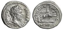 "Ancient Coins - Septimius Severus AR Denarius ""Dea Caelestis on Lion, Facing"" 204 AD RIC 266 VF"