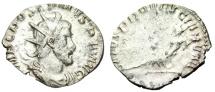 "Ancient Coins - Postumus Silver Antoninianus ""SALVS PROVINCIARVM Rhine Reclining"" RIC 87 VF Rar"