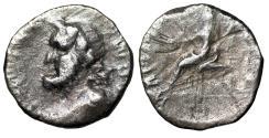 """Ancient Coins - Roman Civil War of 68-69 AD AR Denarius """"Jupiter Optimus Maximus / Vesta"""" Rare"""