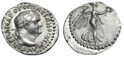 "Ancient Coins - Vespasian AR Hemidrachm Cappadocia, Caesarea-Eusebia ""Nike Palm & Wreath"" EF"