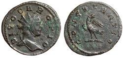 "Ancient Coins - Carus Posthumous Antoninianus ""DIVO CARO Eagle"" Lyons RIC 29 VF"