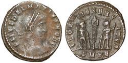 """Ancient Coins - Delmatius AE17 """"GLORIA EXERCITVS Soldiers, Standard"""" Cyzicus RIC 145 Rare"""