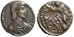 "Ancient Coins - Constantius Gallus AE Centenionalis ""FEL TEMP REPARATIO Horseman"" Great Portrait"