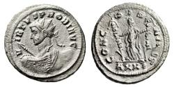 "Ancient Coins - Probus Silvered Ant. ""Heroic Bust & Concordia"" Ticinum RIC 533 Rare EF"
