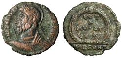 """Ancient Coins - Julian II The Apostate AE20 """"Votive, VRB ROM T Exergue"""" RIC 329 VF"""