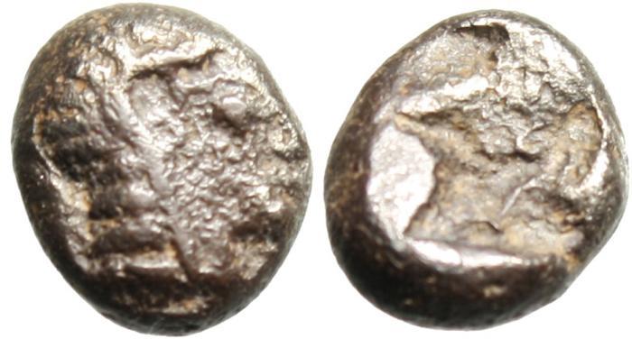 "Ancient Coins - Ionia, Kolophon (Colophon) Silver AR Obol ""Apollo & Incuse"" Rare"