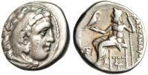 "Ancient Coins - Alexander III The Great Silver AR Drachm ""Hercules & Zeus"" Ionia Kolophon Rare"