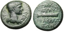 "Ancient Coins - Nero Caesar ""Hercules' Club"" Caria Heraclea Salbace RPC 2861 Extremely Rare"