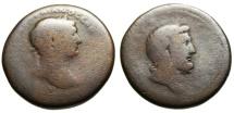 """Ancient Coins - Trajan AE30 """"Bust of Zeus Ammon"""" Cyrenaica (Africa), Cyrene Rare"""