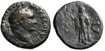 "Ancient Coins - Vespasian AE As ""Spes Walking, Hope & Optimism"" Rome 77-78 AD RIC 1009"