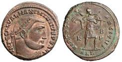 "Ancient Coins - Galerius AE Follis ""VIRTVS EXERCITVS Mars"" Alexandria RIC 119a Rare EF"