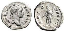"Ancient Coins - Severus Alexander AR Denarius ""Annona With Corn Ears"" Rome 222-235 AD VF"