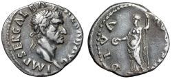 "Ancient Coins - Galba AR Denarius ""DIVA AVGVSTA Livia Standing"" RIC 186 Choice Portrait gVF"