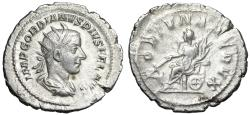 "Ancient Coins - Gordian III AR Antoninianus ""Fortuna Seated"" Generously Large 25mm Flan"
