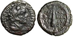 "Ancient Coins - Commodus AE As ""Portrait Wearing Lion Skin & Club of Hercules"" 192 AD gF"