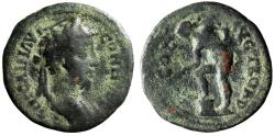 """Ancient Coins - Commodus AE23 of Alexandria, Troas """"Apollo Leaning over Altar"""" Fine"""