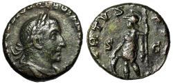 "Ancient Coins - Valerian I AE As ""VIRTVS AVGG Virtus, Spear & Shield"" Rome RIC 204 Rare gVF"