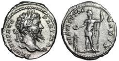 """Ancient Coins - Septimius Severus AR Denarius """"RESTITVTOR VRBIS Septimius, Tripod"""" 200-201 AD VF"""