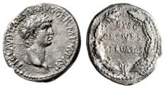 """Ancient Coins - Claudius I Silver Denarius """"EX SC OB CIVES SERVATOS Oak Wreath"""" RIC 16 gVF Rare"""