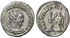 """Ancient Coins - Valerian I AR Antoninianus """"RESTITVT ORIENTIS Orient Crowning"""" Antioch Near EF"""