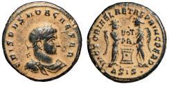 "Ancient Coins - Crispus AE20 ""Two Victories, VOT PR Altar"" Siscia RIC 66 Scarce Desert Patina"
