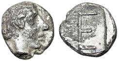 "Ancient Coins - Ionia, Kolophon AR Tetartemorion ""Apollo & TE Monogram"" Marked Denomination"
