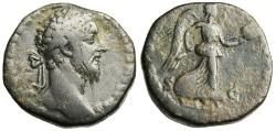 "Ancient Coins - Commodus AE Sestertius ""Victory With Trophy in Two hands"" Rome RIC 374"