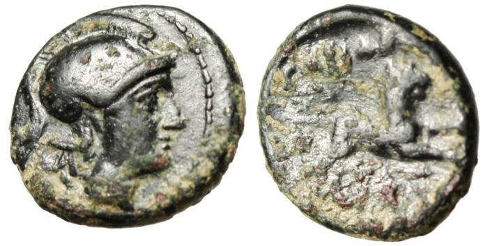 """Ancient Coins - Thracian King: Lysimachos AE11 """"Lion Leaping"""" Rare Small Denomination"""