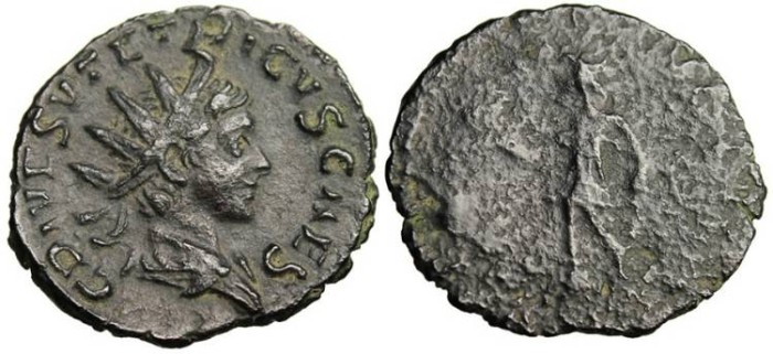 "Ancient Coins - Tetricus II, AE Ant. ""Spes"" Vienna Mint RIC 270 Nice Portrait"