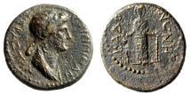 "Ancient Coins - Agrippina II (Mother of Nero) AE16 ""Statue of Artemis Ephesia"" Phrygia Cadi Rare VF"