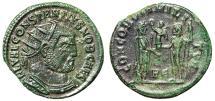 """Ancient Coins - Constantius I Chlorus AE Radiate """"Emperor & Jupiter"""" Heraclea Nice Portrait"""