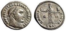 """Ancient Coins - Constantine I The Great """"Sol, Head of Serapis"""" Heraclea RIC Unrecorded Rare FDC"""