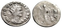 "Ancient Coins - Claudius II Gothicus AR Antoninianus ""VIIII Engraved Countermark"" Extremely Rare"