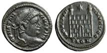 """Ancient Coins - Constantine I The Great AE20 """"PROVIDENTIAE AVGG Campgate"""" London RIC 293 VF"""