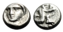 "Ancient Coins - Persia (Achaemenid) Silver Tetrartemorion ""Kneeling, Bow / Facing"" Very Rare VF"