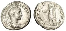 "Ancient Coins - Severus Alexander Silver Denarius ""Mars, Roman God of War"" Rome 222AD RIC 7 VF"