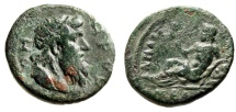 "Ancient Coins - Paphlagonia, Amastris Pseudo-Autonomous Issue ""Poet Homer Bust & Meles"" Rare nVF"